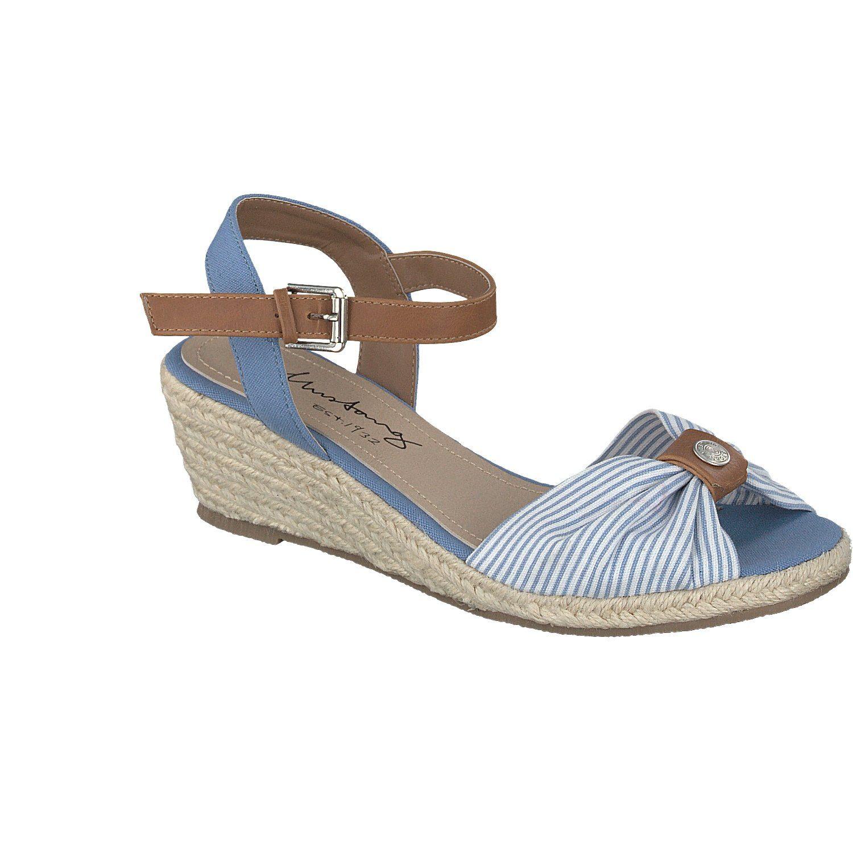 MUSTANG SHOES Sandalette im Streifenlook - broschei