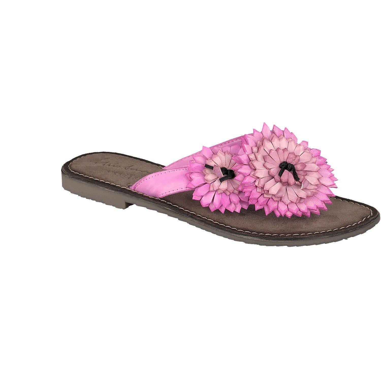 MUSTANG SHOES Sandale mit aufgesetzten Blumen