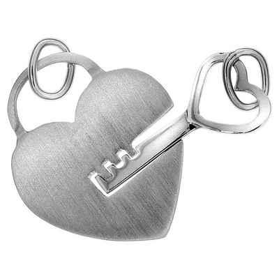 Vivance Anhänger »925/- Sterling Silber 2tlg. Herz«
