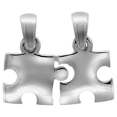 Vivance Anhänger »925/- Sterling Silber rhod. 2tlg. Puzzle«