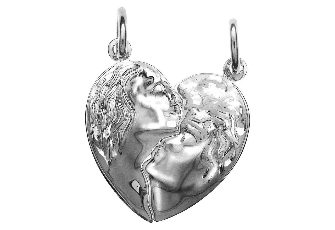 Firetti Anhänger »925/- Sterling Silber 2tlg. Herz« | Schmuck > Halsketten > Herzketten | Weiß | Firetti