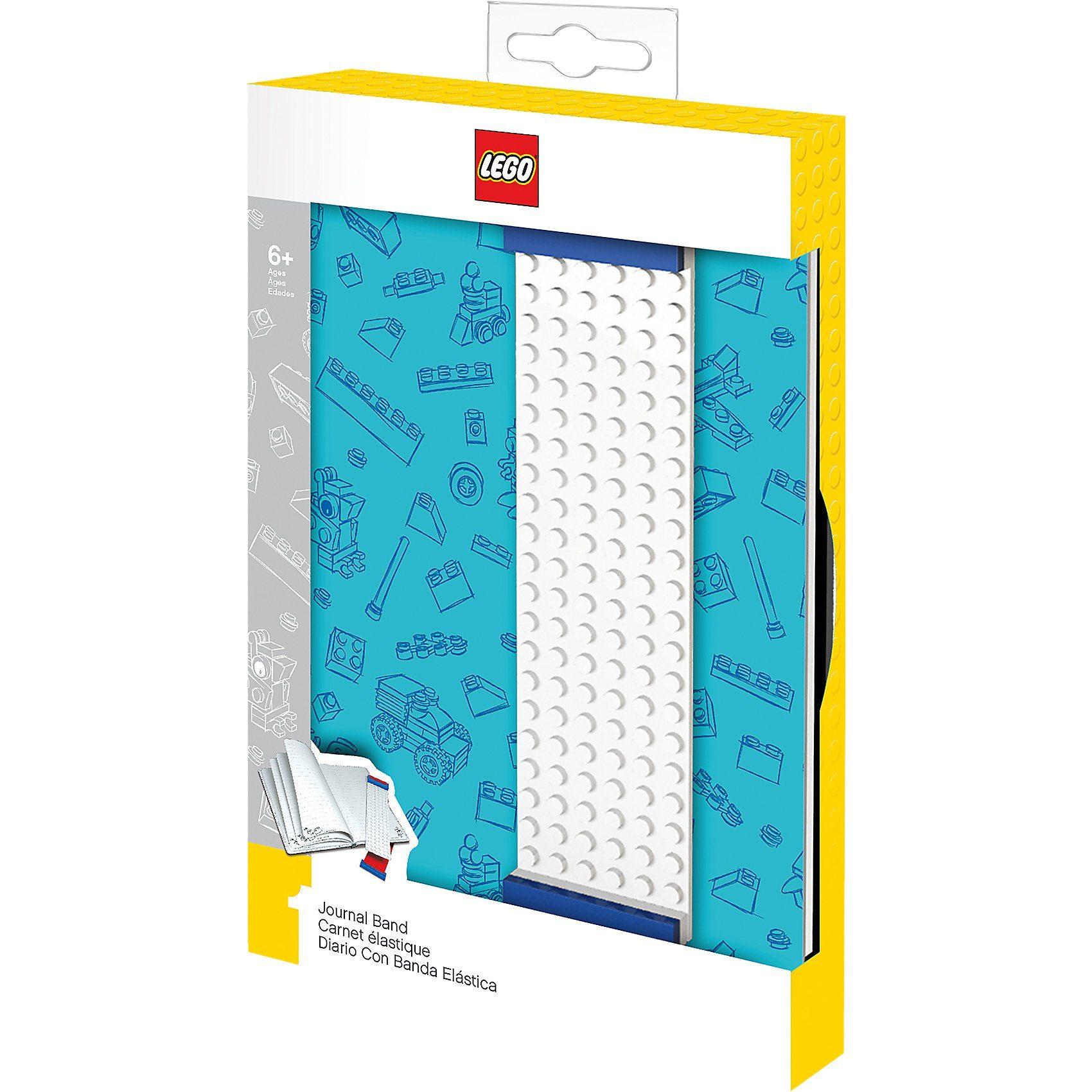 LEGO Notizbuch blau mit Band-Lesezeichen