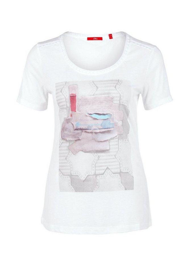 s.Oliver RED LABEL Printshirt mit Stitchings