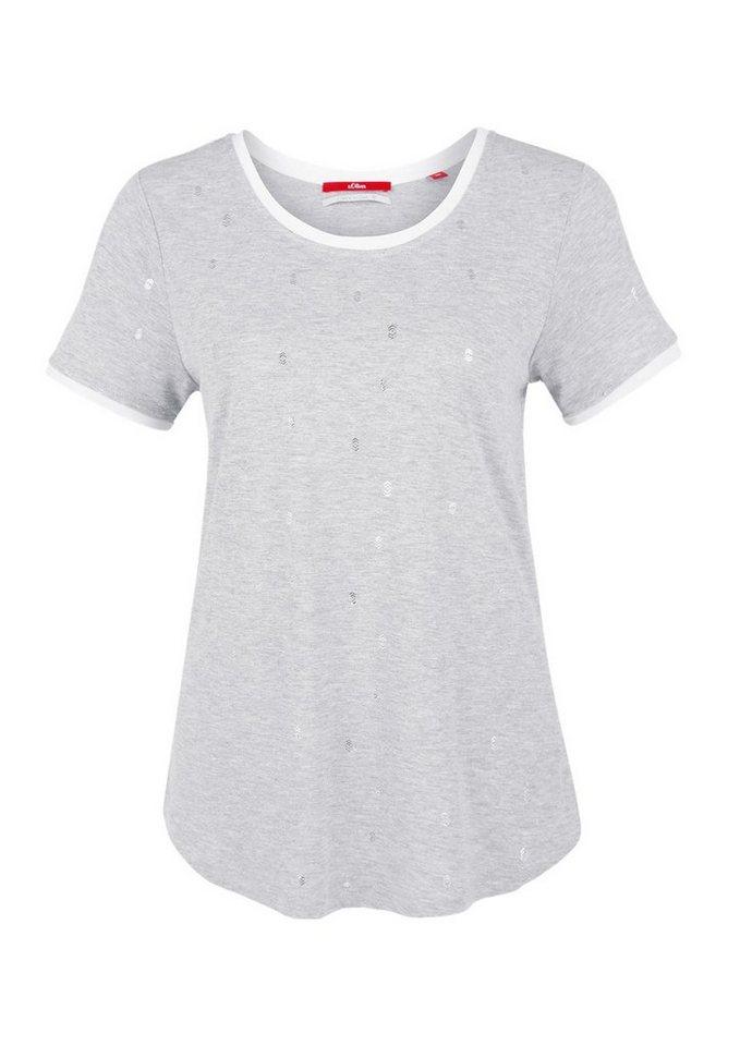 s.Oliver RED LABEL Shirt mit Metallic-Print