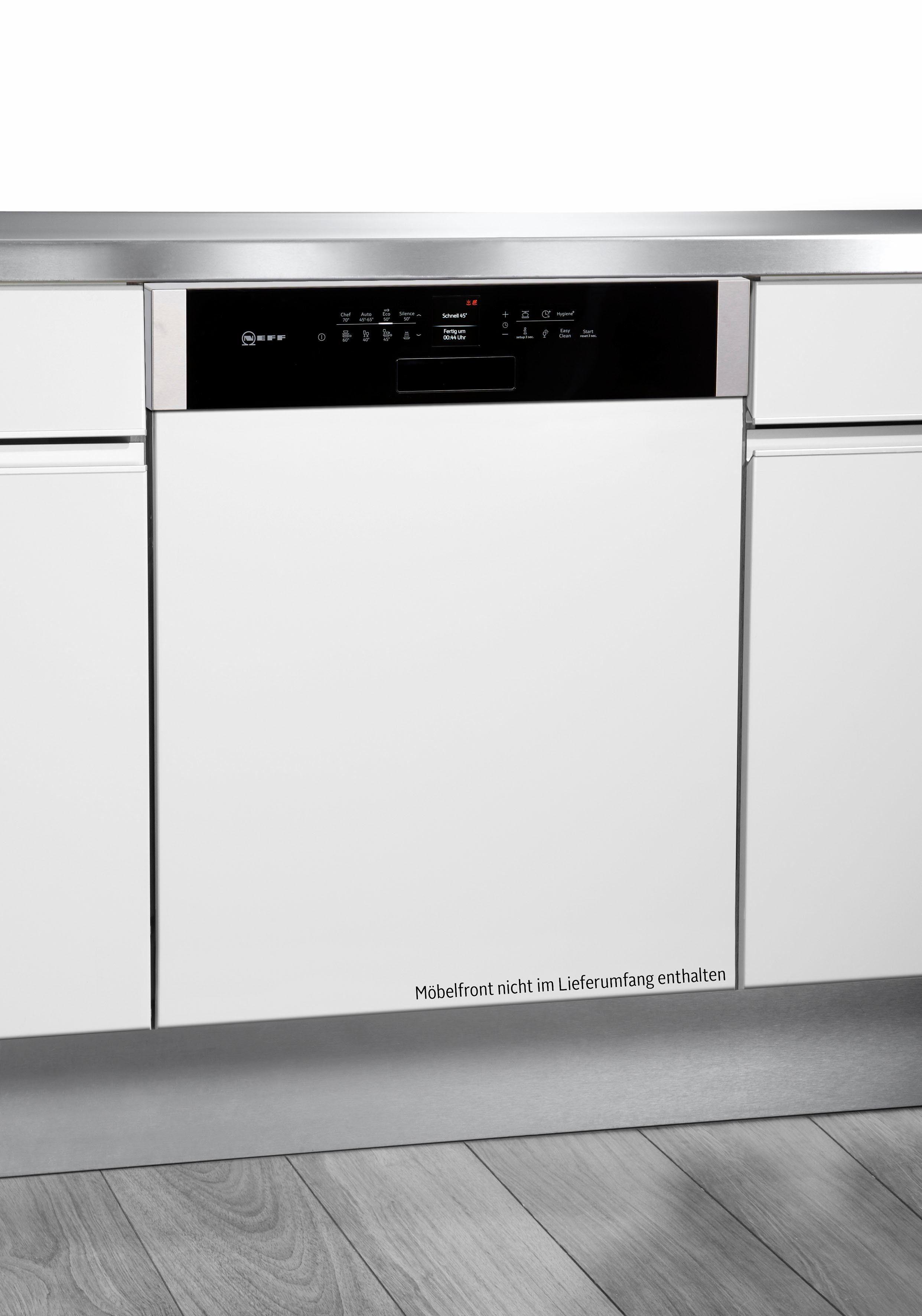 NEFF Teilintegrierbarer Geschirrspüler Serie 6 S416T80S1E, A+++, 9,5 Liter, 14 Maßgedecke