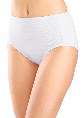 Damen Pikee Taillenslips (5 Stück) weiß   04893823212691