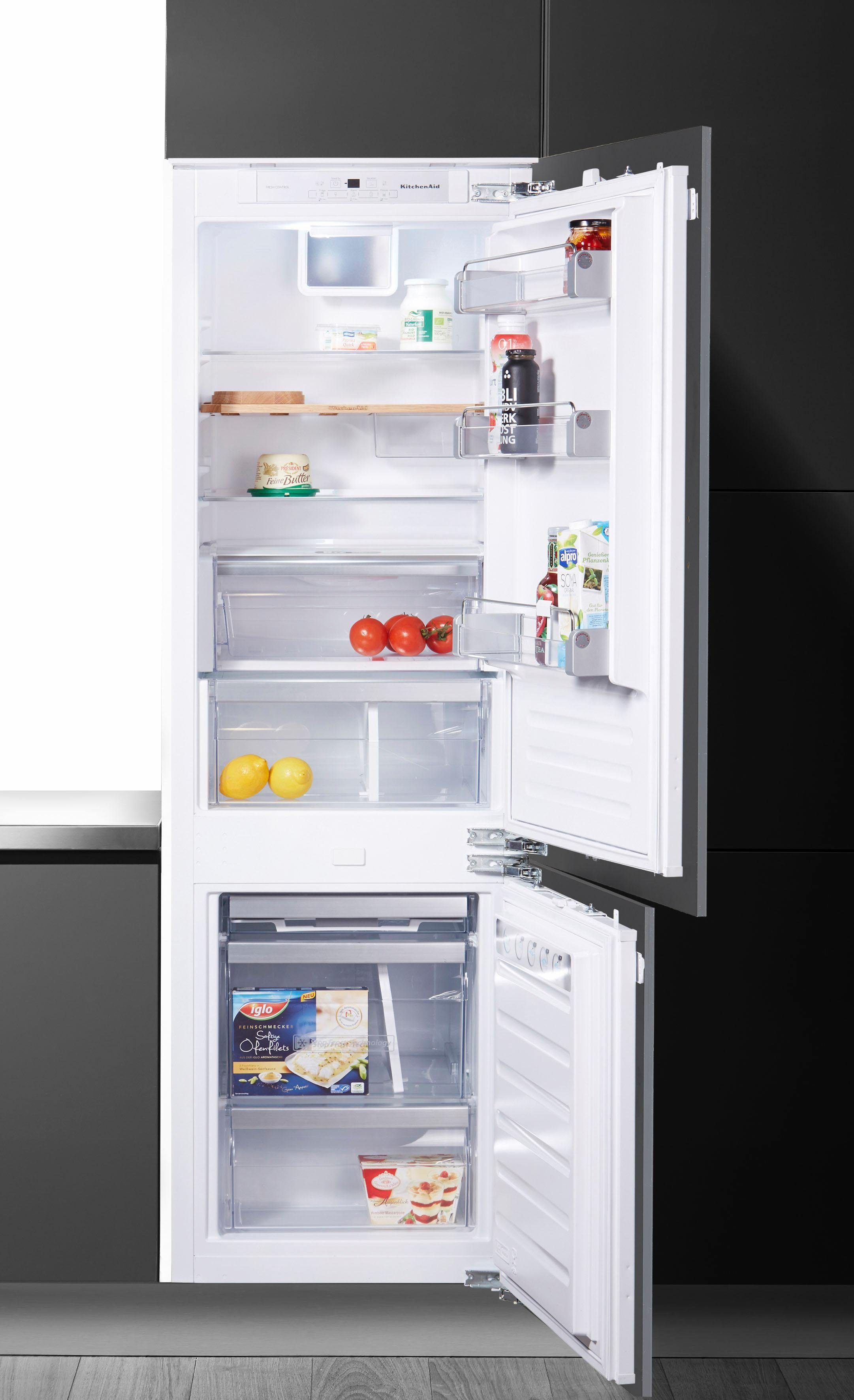 KitchenAid vollintegrierbare Einbau-Kühlgefrierkombination KCBDS 18601, Energieklasse A++