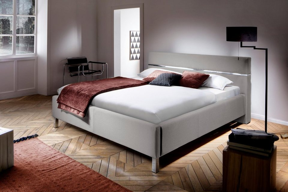 inosign polsterbett bellanotte mit chromdetail im. Black Bedroom Furniture Sets. Home Design Ideas