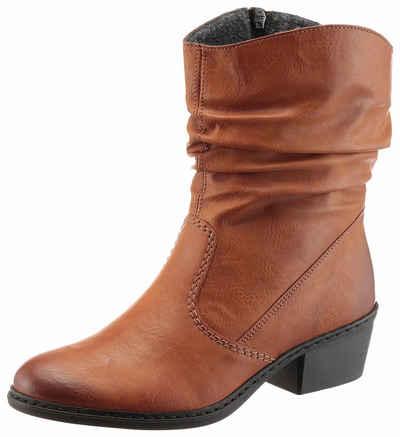 Damen Western-Stiefel aus Leder Khaki EU 37 Next njpDo6
