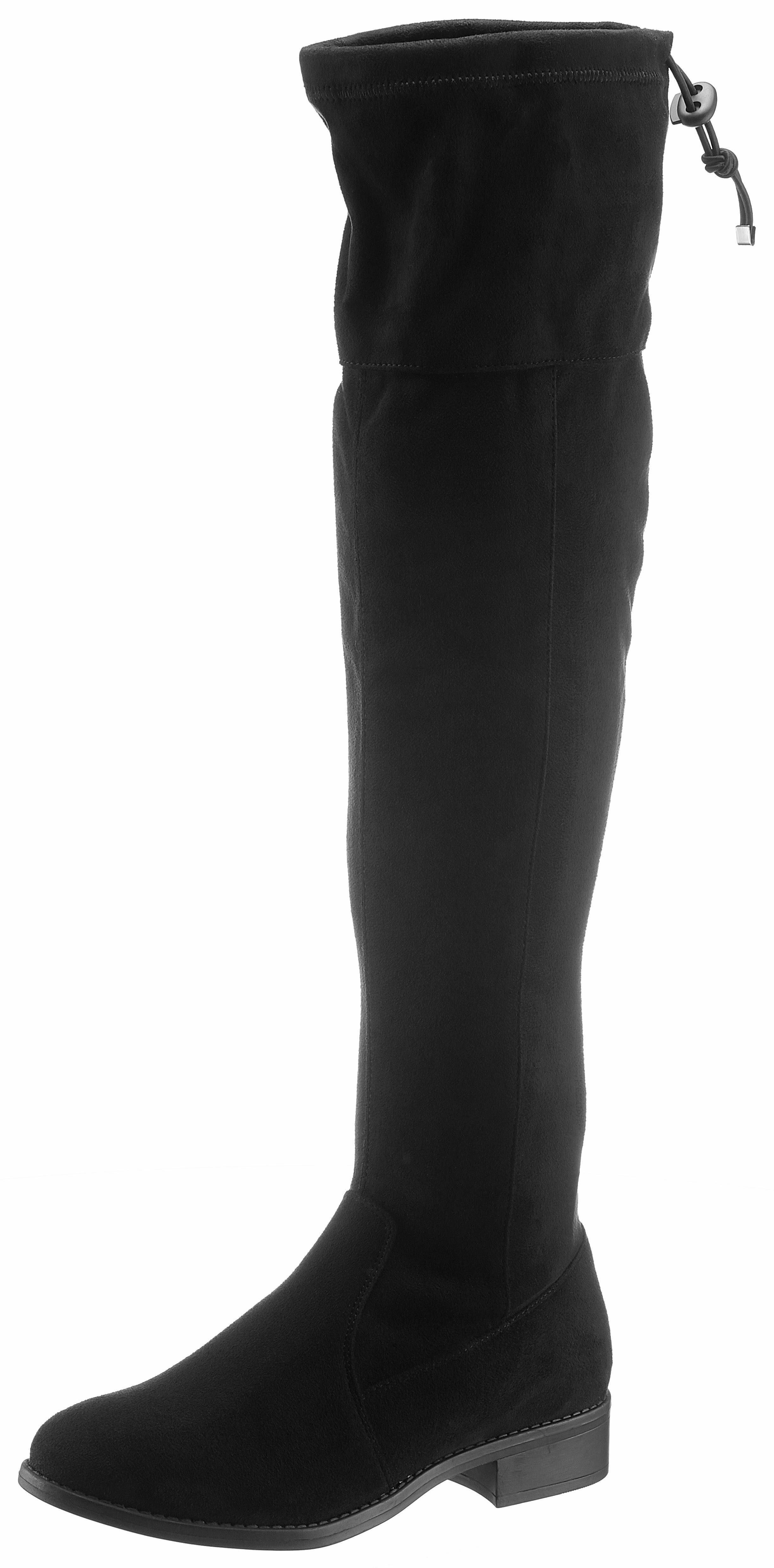 CITY WALK Overkneestiefel, in klassischer Form  schwarz