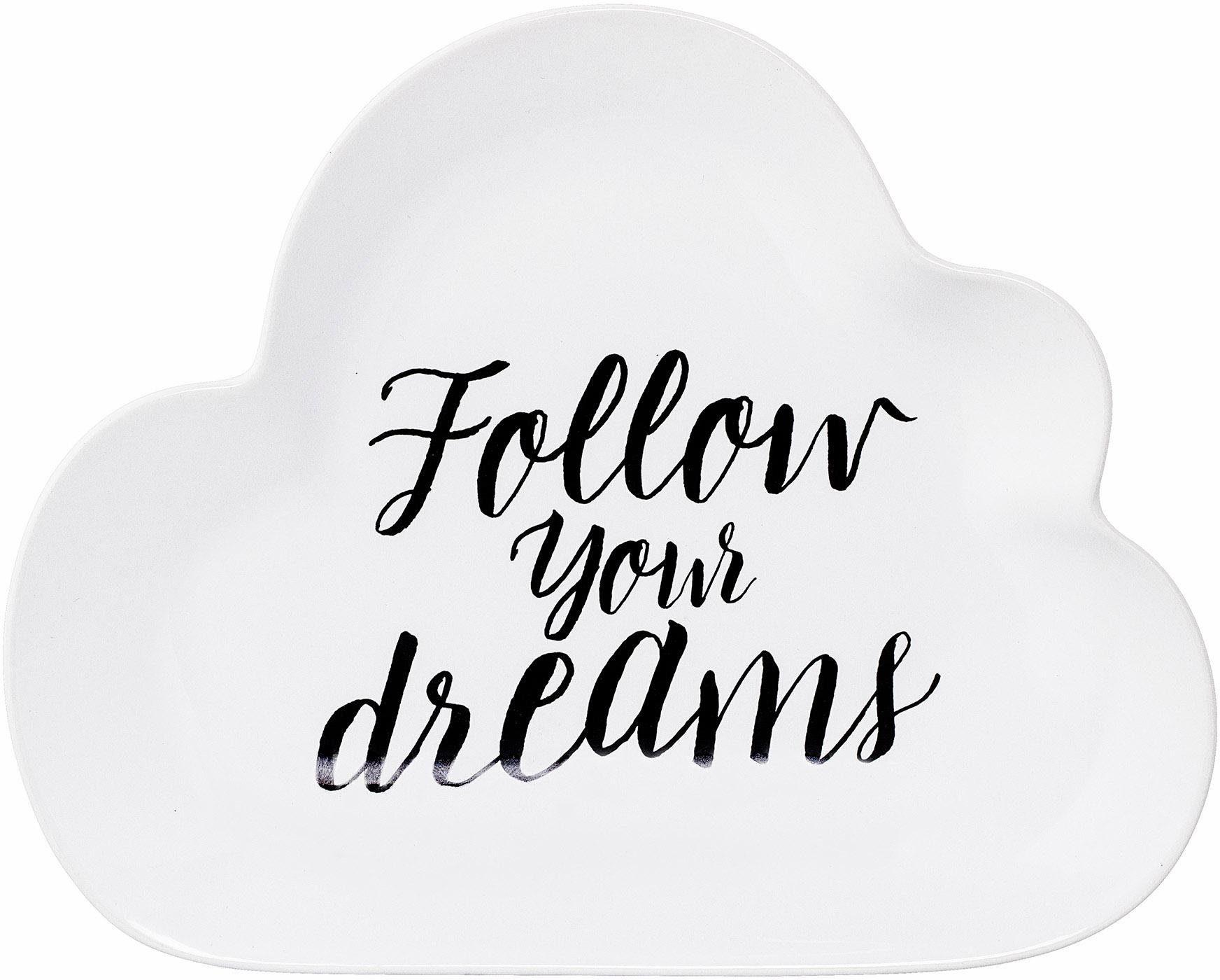Bloomingville Teller »Follow your dreams«