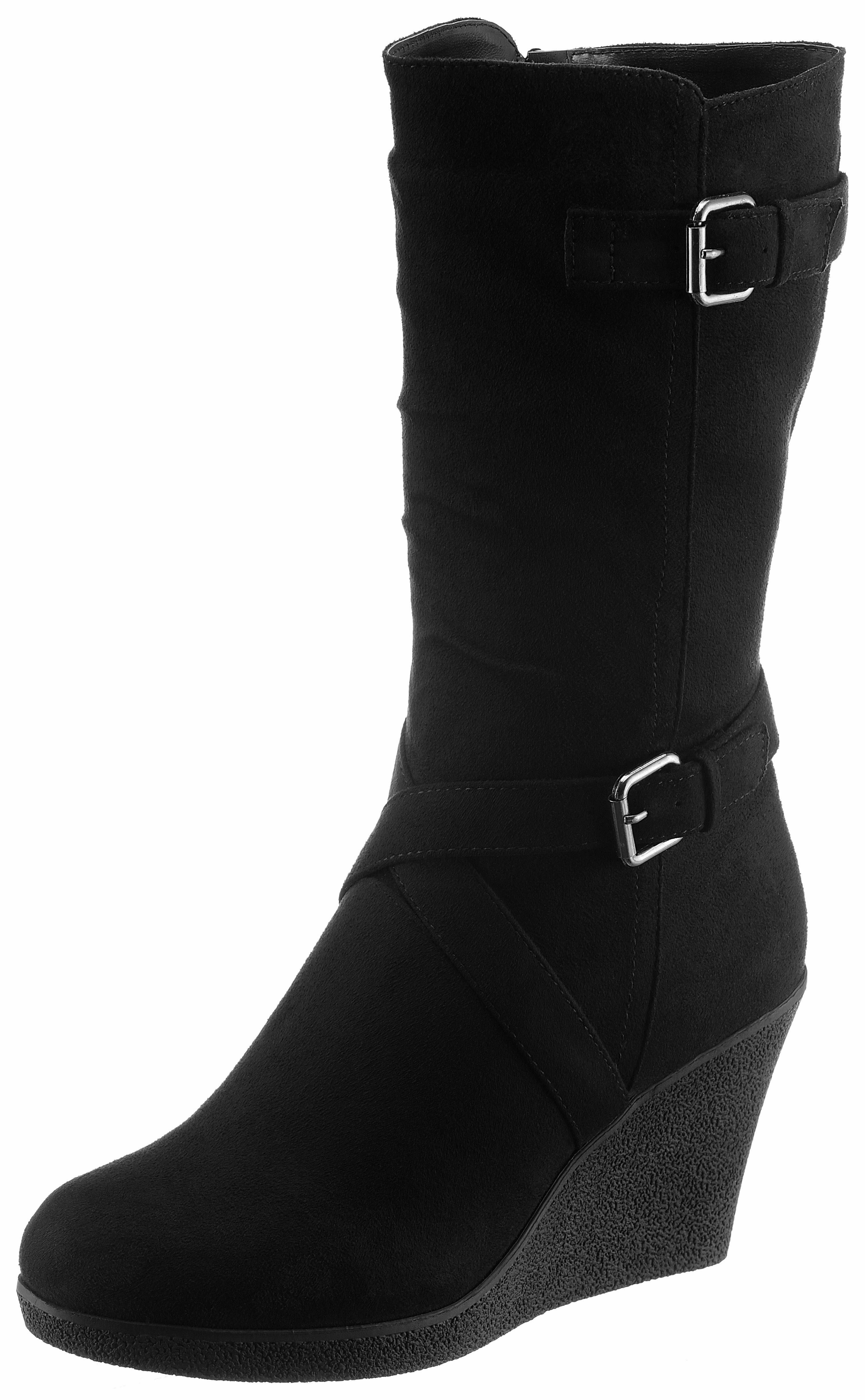 CITY WALK Stiefel, in angesagter, runder Form  schwarz