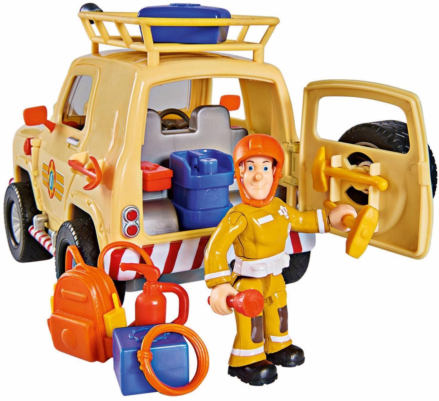 Simba Spielzeugauto, »Feuerwehrman Sam Tom's 4x4 Geländewagen«