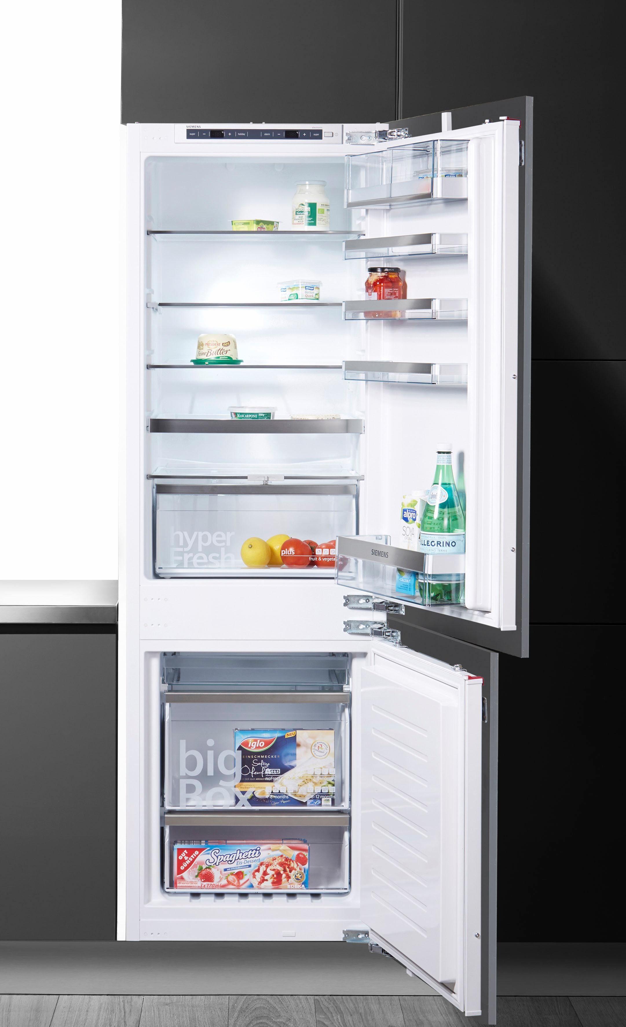SIEMENS Einbaukühlgefrierkombination KI86NAD30, 177,2 cm hoch, 54,5 cm breit, Energieeffizienzklasse: A++, 177,2 cm hoch, NoFrost
