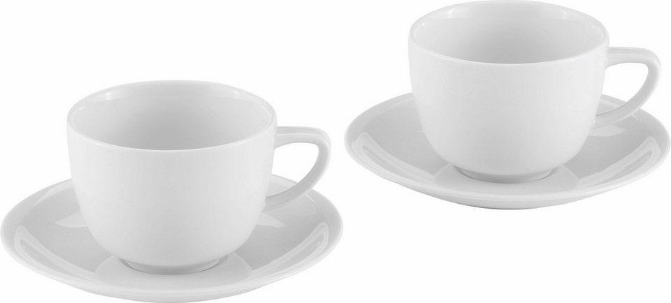alexander herrmann caf au lait set classic linie 4 teilig porzellan made in germany online. Black Bedroom Furniture Sets. Home Design Ideas