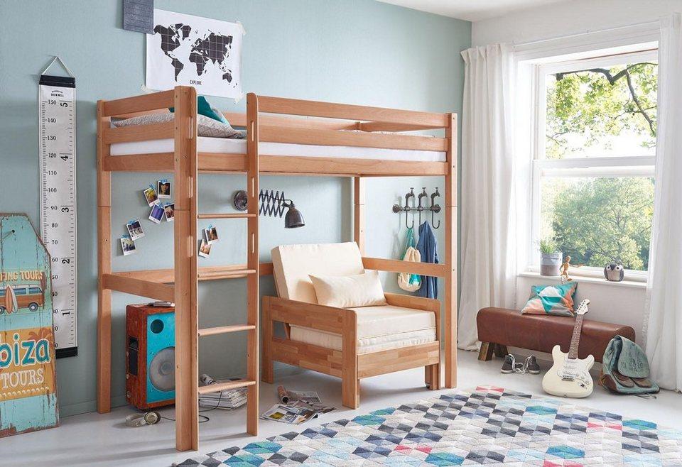 relita einzel hochbett wahlweise mit schreibtisch und. Black Bedroom Furniture Sets. Home Design Ideas