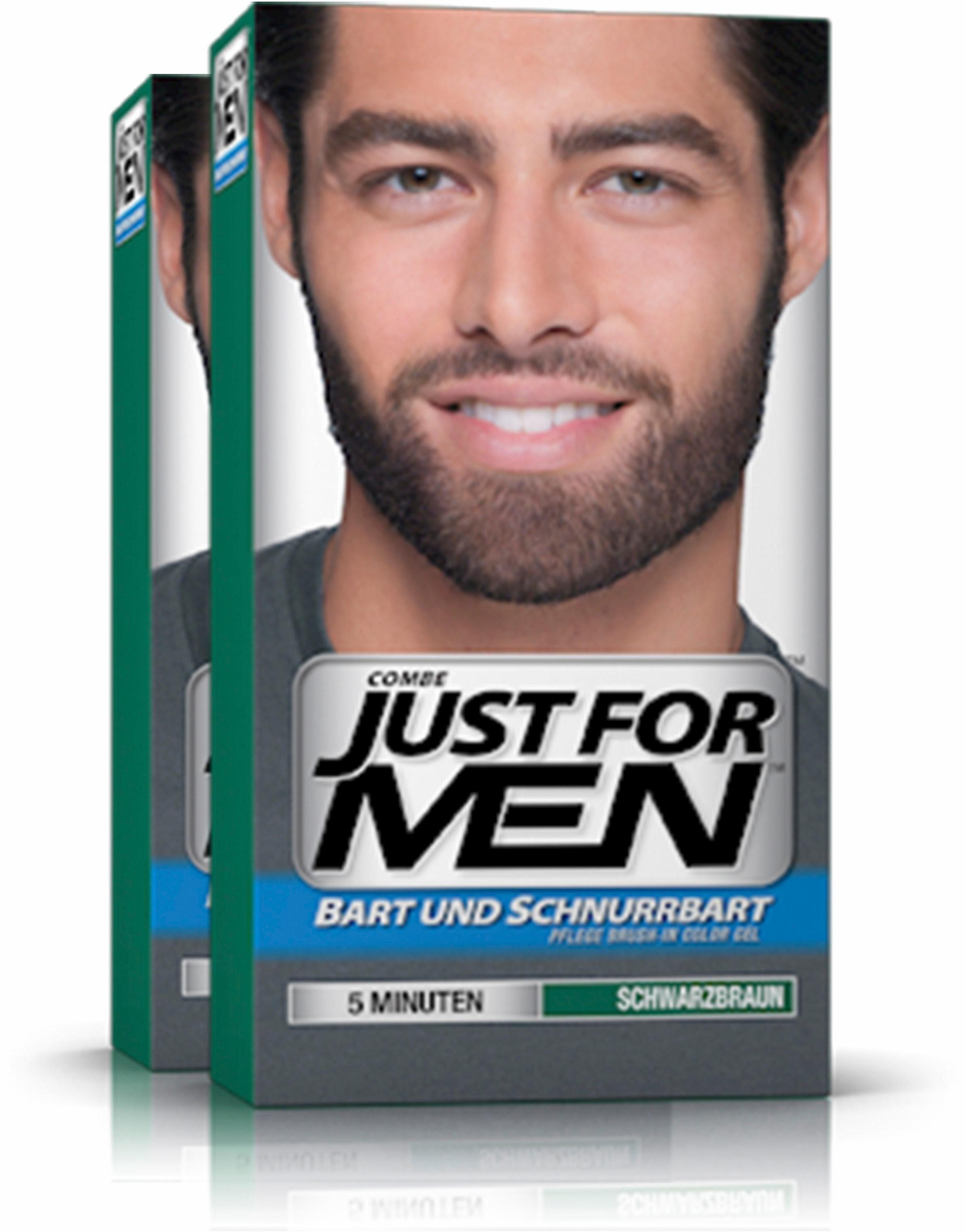 Just for Men, »Pflege-Brush-In-Color-Gel Schwarzbraun«, Haartönung für Bart und Schnurrbart