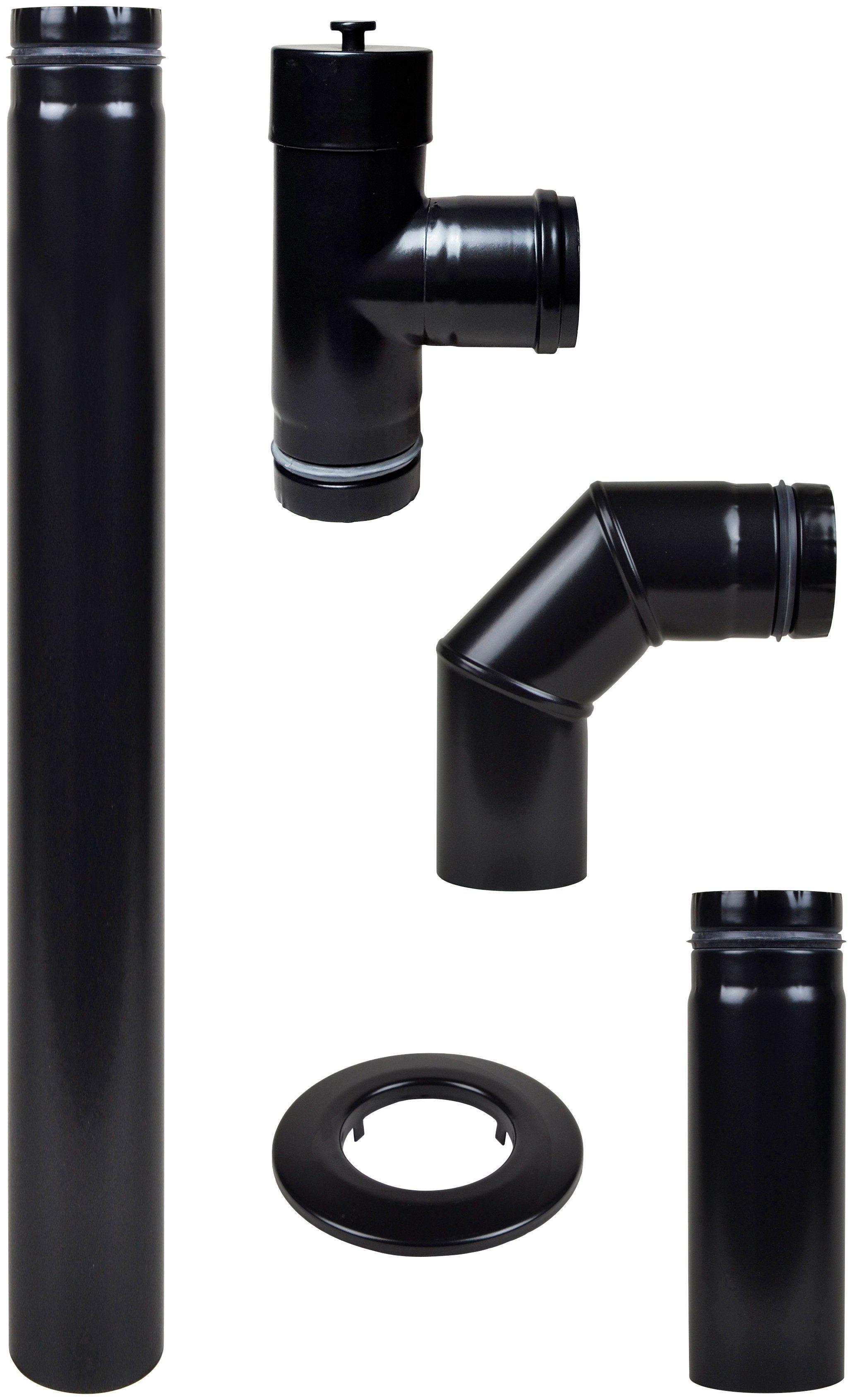 MULDENTHALER Rauchrohr-Set , Ø 80 mm, Ofenrohr für Pelletöfen