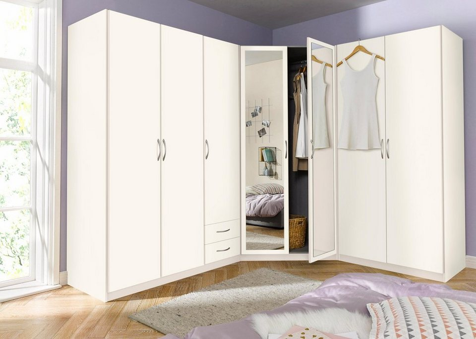wimex eckkleiderschrankkombination set sprint 3 teilig eckschrank mit spiegel online kaufen. Black Bedroom Furniture Sets. Home Design Ideas