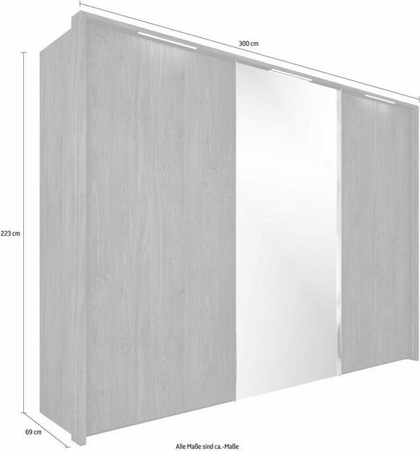 Kleiderschränke - nolte® Möbel Schwebetürenschrank »Marcato 1B« mit Spiegeltür  - Onlineshop OTTO
