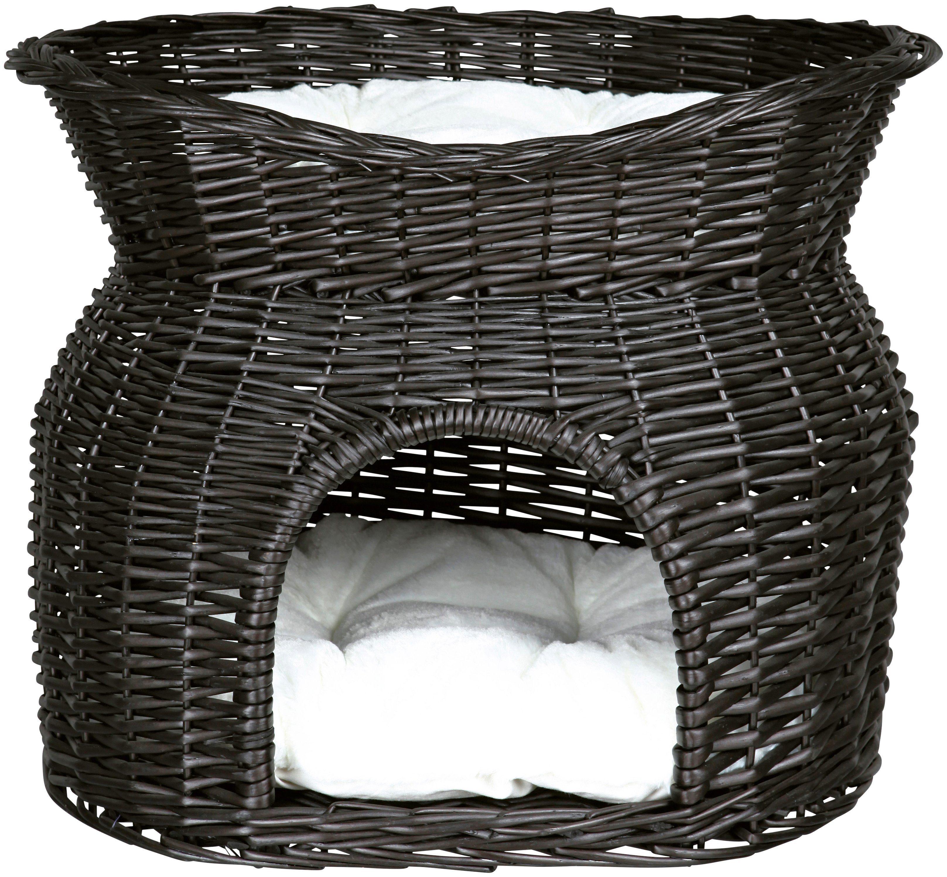 TRIXIE Katzen-Korbturm , B/L/H: 54/43/37 cm, schwarz