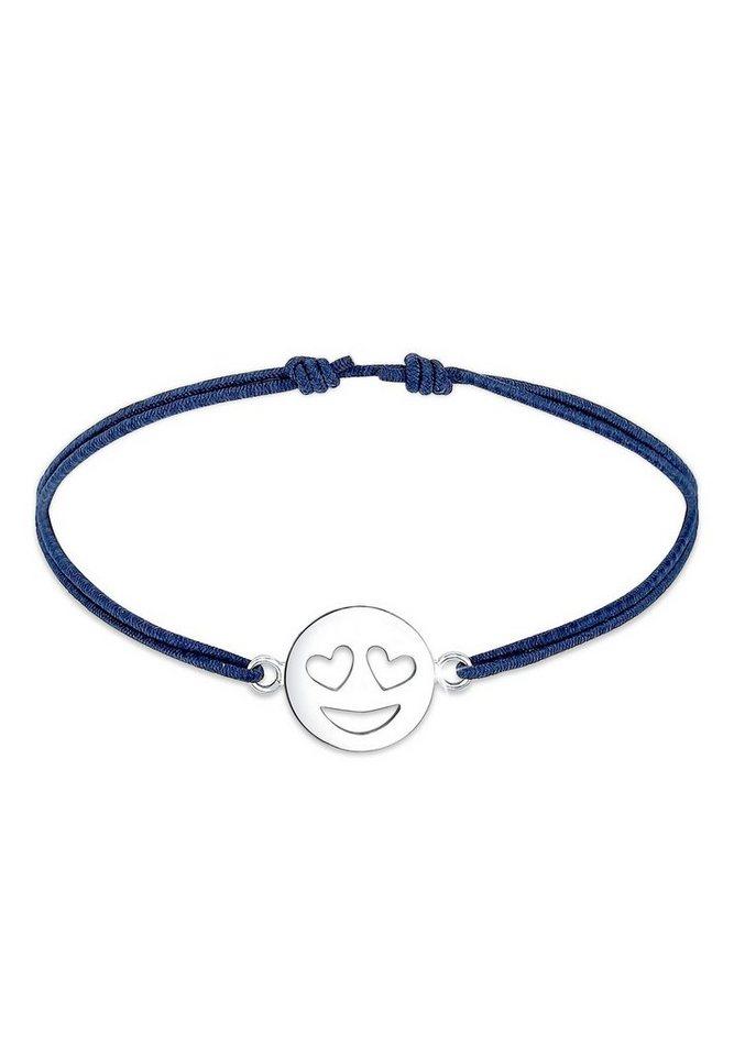 Elli Armband »Smiley Face Emotion Emoji Herz Liebe 925 Silber ... 64f6febba8