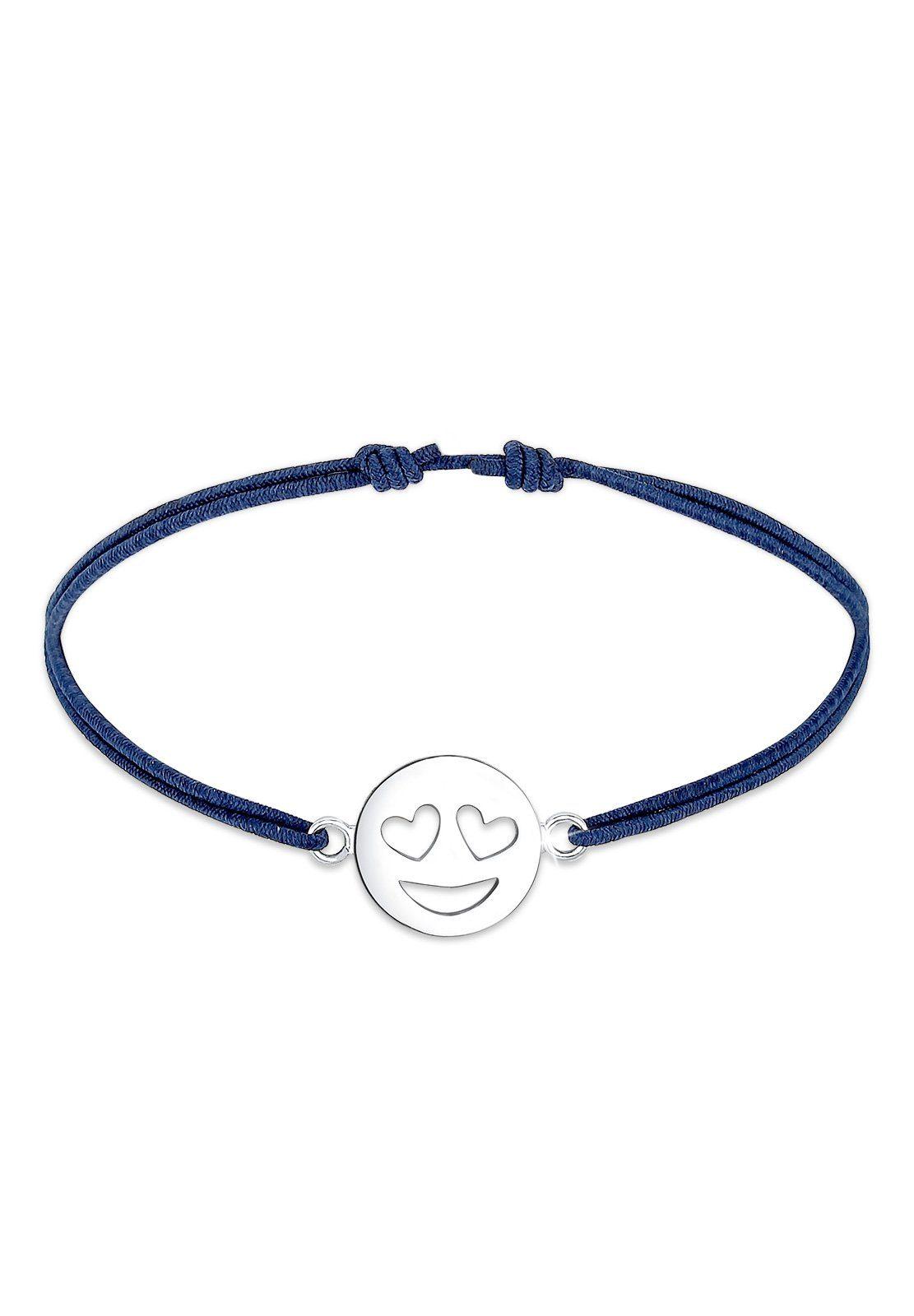 Elli Armband »Smiley Face Emotion Emoji Herz Liebe 925 Silber«