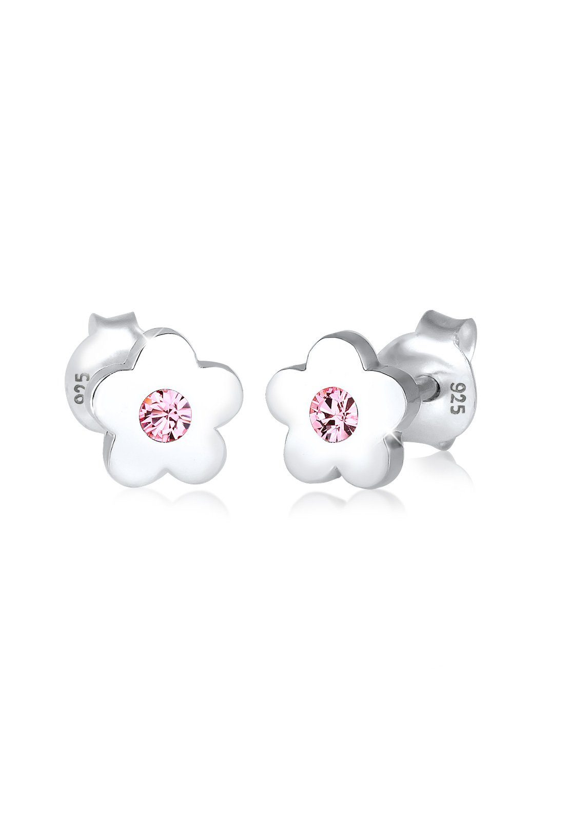 Elli Ohrringe »Kinder Blume Rosa Swarovski® Kristall 925 Silber«
