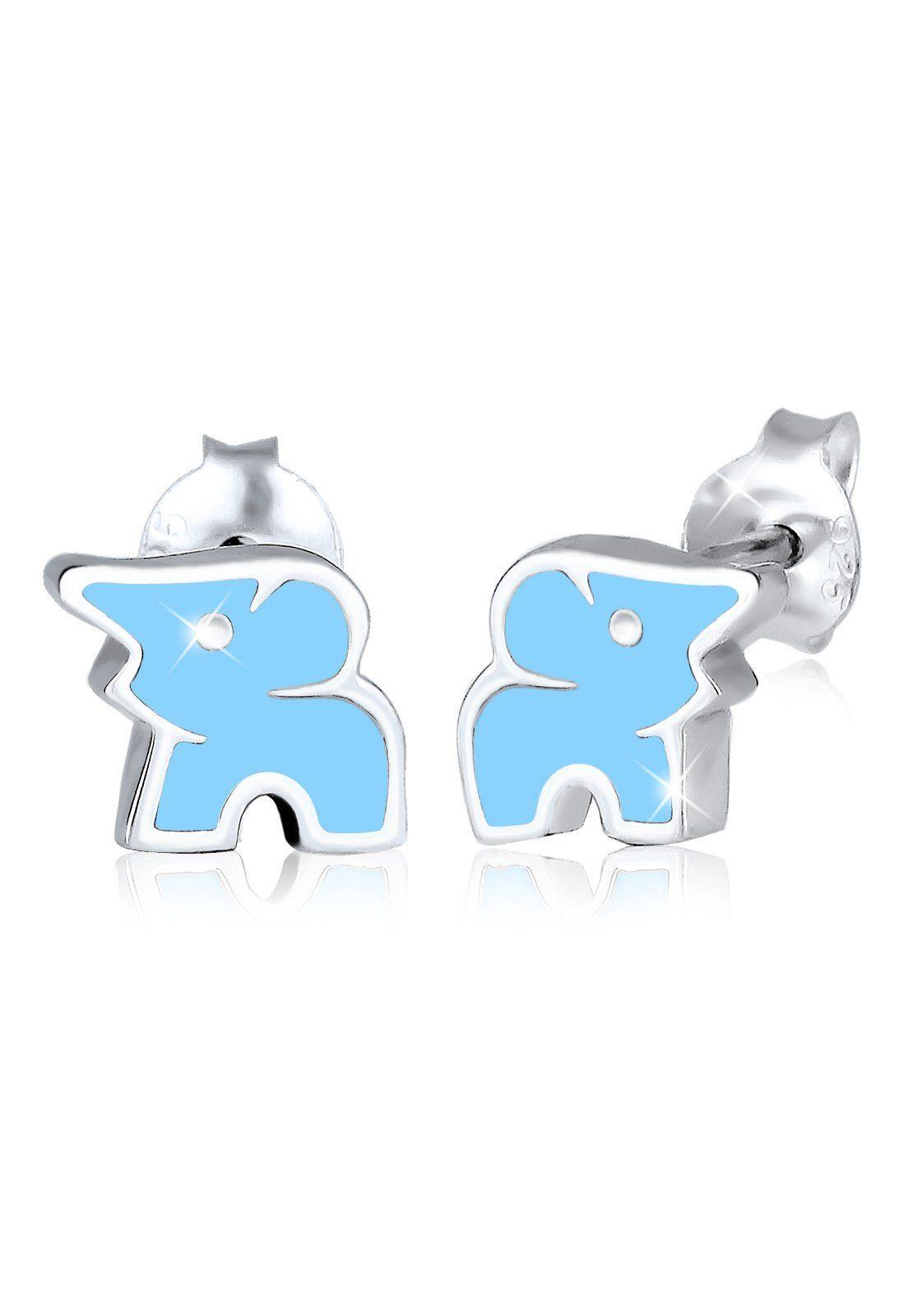 Elli Ohrringe »Kinderschmuck Elefant Tier Zoo 925 Silber«