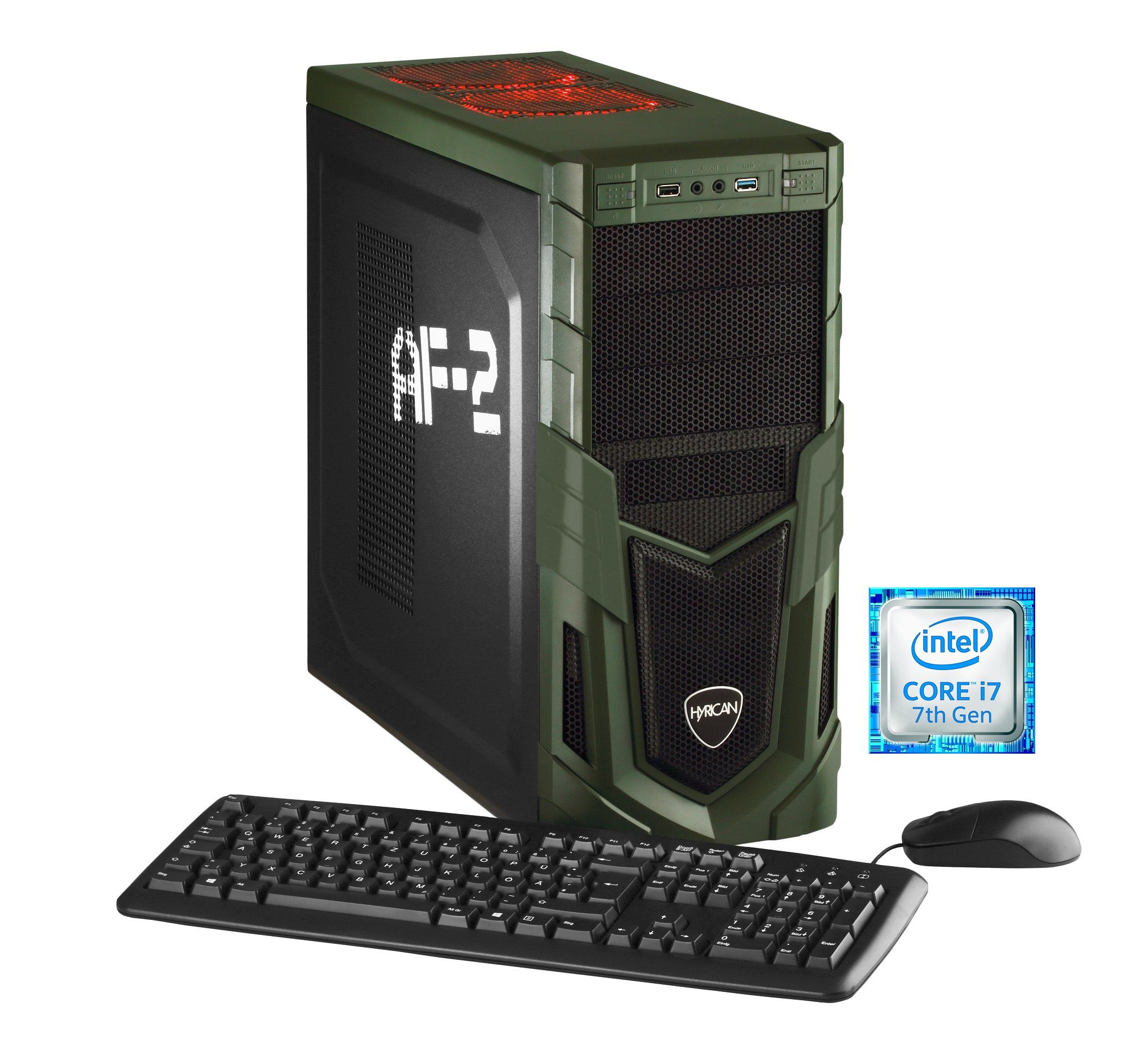 Hyrican Gaming PC Intel® i7-7700 8GB 1TB 120GB SSD GeForce® GTX 1060 »Military 5554«