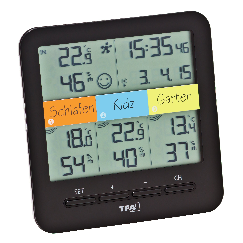 Funk-Thermo-Hygrometer mit 3 Sendern »KLIMA@HOME«