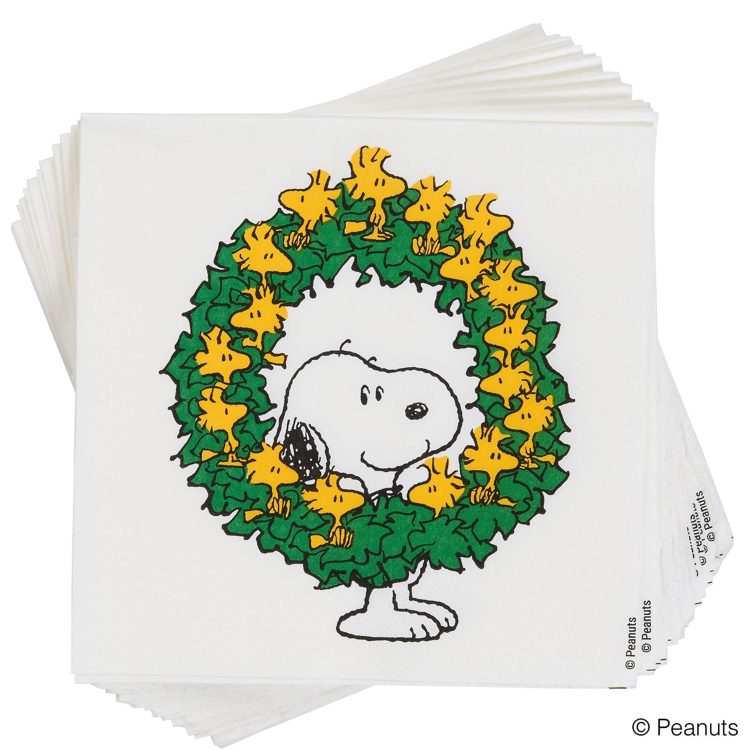 BUTLERS PEANUTS »Papierserviette Snoopy mit Kranz«