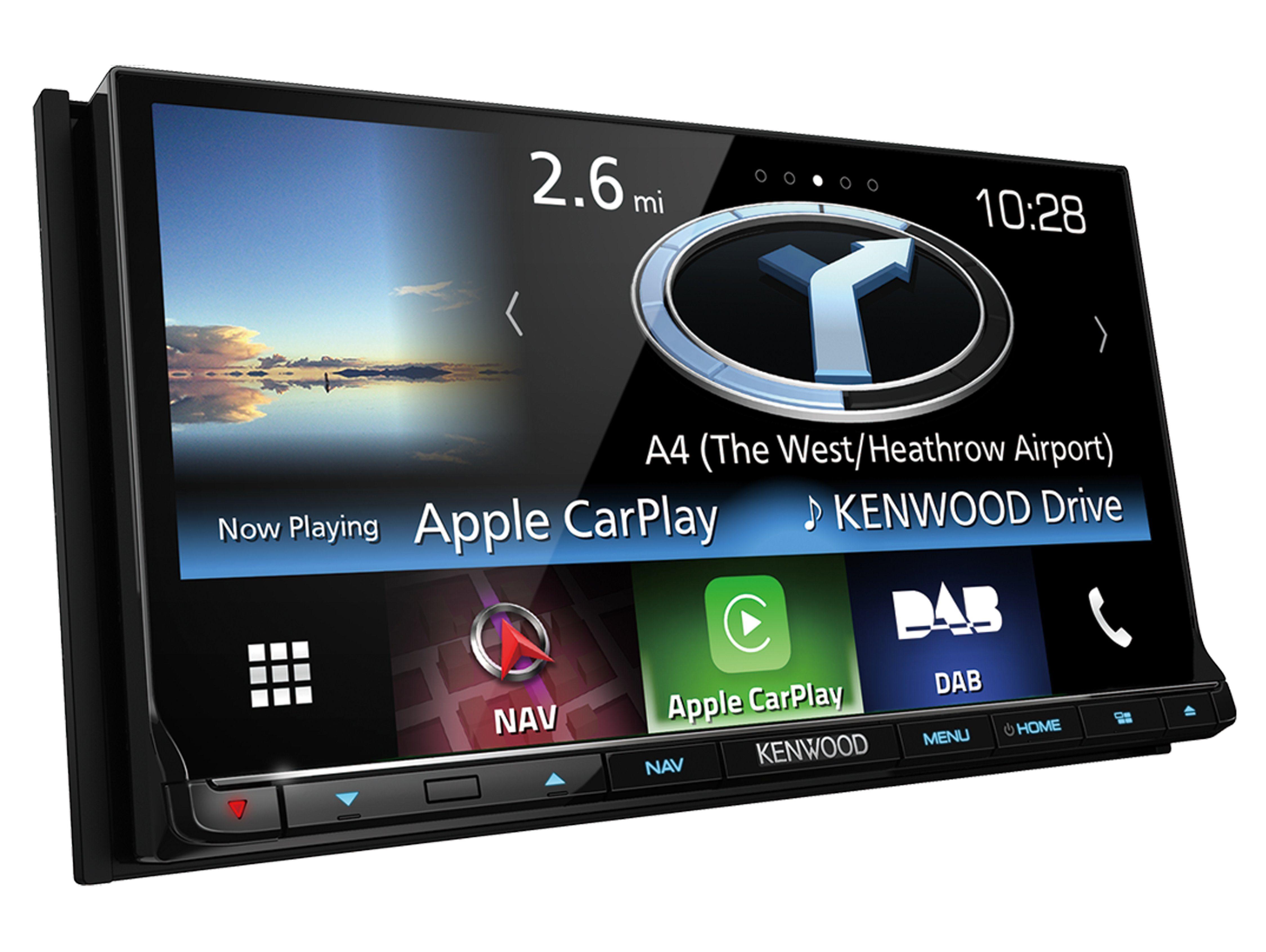"Kenwood 2-DIN Navitainer mit 7"" WVGA-Monitor, Bluetooth & Digitalradio »DNX8160DAB«"