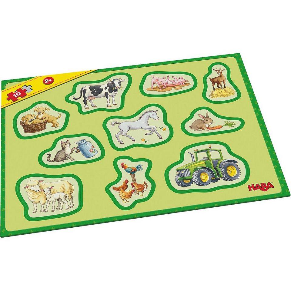 Haba Meine ersten Rahmenpuzzles - 10 Teile - Bauernhof online kaufen ...