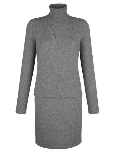 Alba Moda Knit Dress With Turtleneck