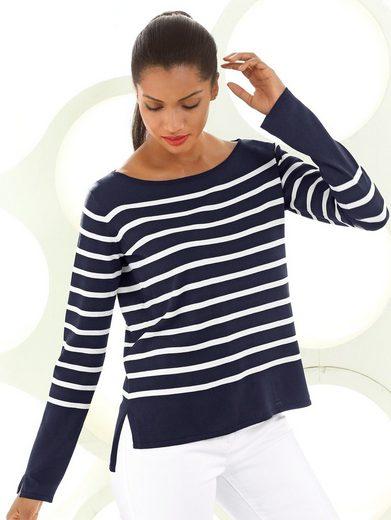 Alba Moda Pullover im Ringeldessin