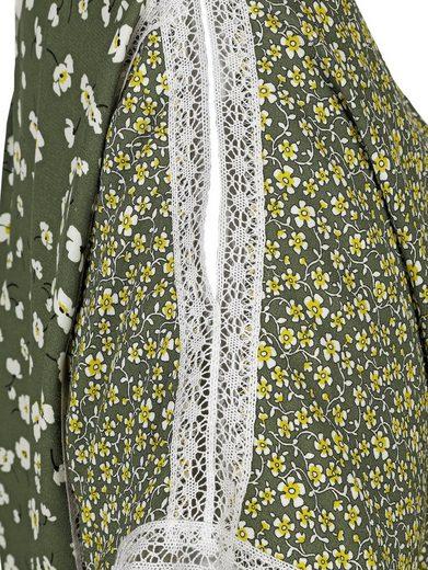 Alba Moda Patchbluse im Millefleurs-Dessin Aufwendig mit Spitze besetzt