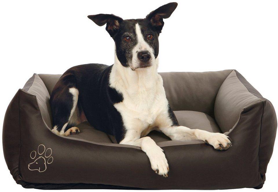 trixie hunde bett bino bxl 80x60 cm dunkelgrau taupe. Black Bedroom Furniture Sets. Home Design Ideas