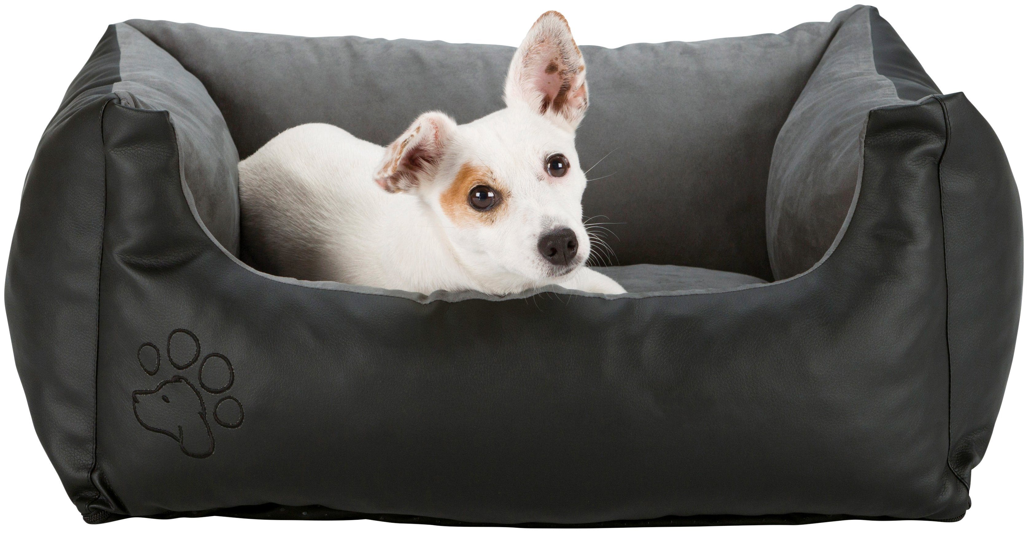 TRIXIE Hundebett »Bino«, BxL: 80x60 cm, schwarz/grau