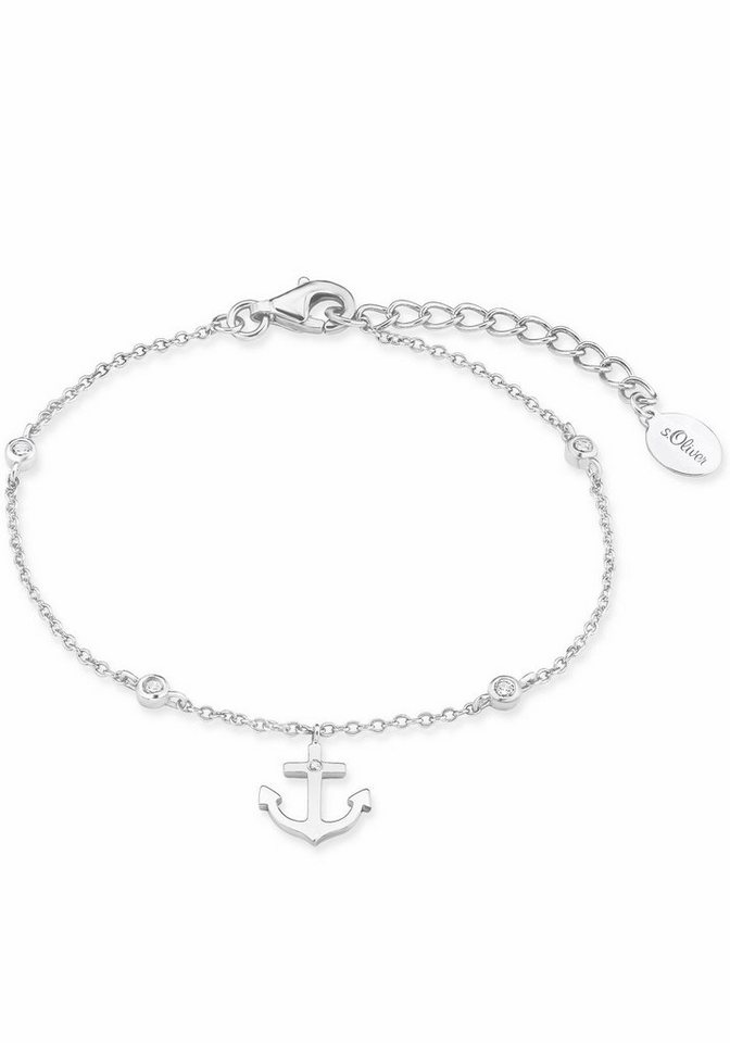 s.Oliver RED LABEL Silberarmband »Anker, 2017249« mit Zirkonia ... 13a6786607