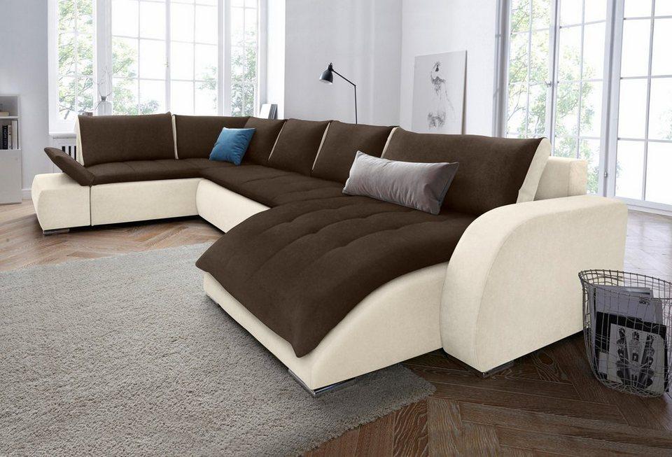 wohnlandschaft mit bettfunktion. Black Bedroom Furniture Sets. Home Design Ideas
