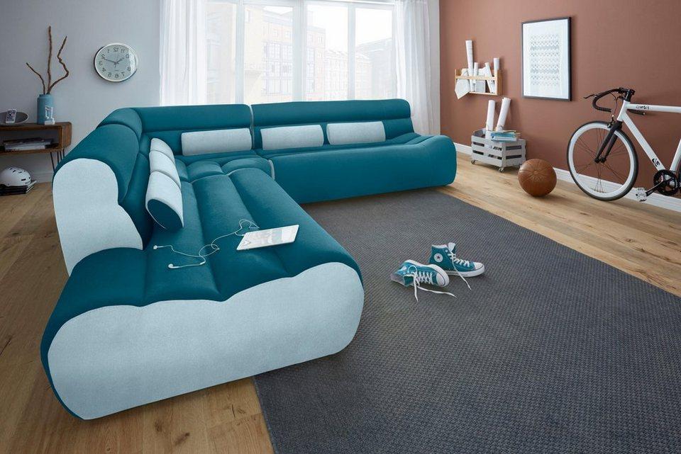 trendmanufaktur ecksofa mit recamiere kaufen otto. Black Bedroom Furniture Sets. Home Design Ideas