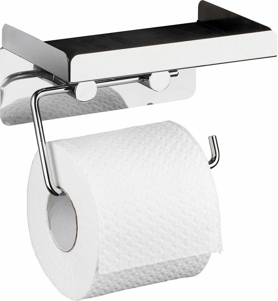 wenko toilettenpapierhalter 2 in 1 befestigen ohne bohren online kaufen otto. Black Bedroom Furniture Sets. Home Design Ideas