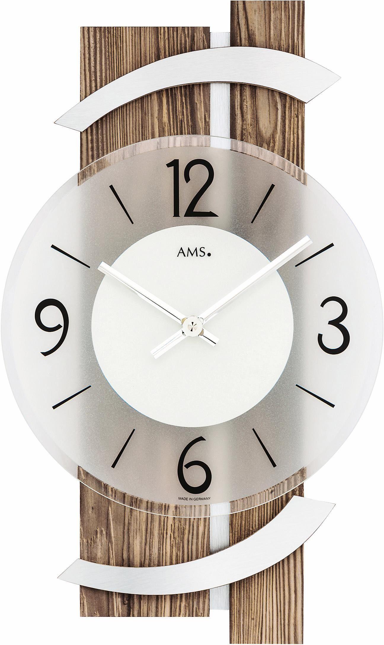 LEONARDO Tischuhr//Regal-Uhr mit Spiegel silberfarben