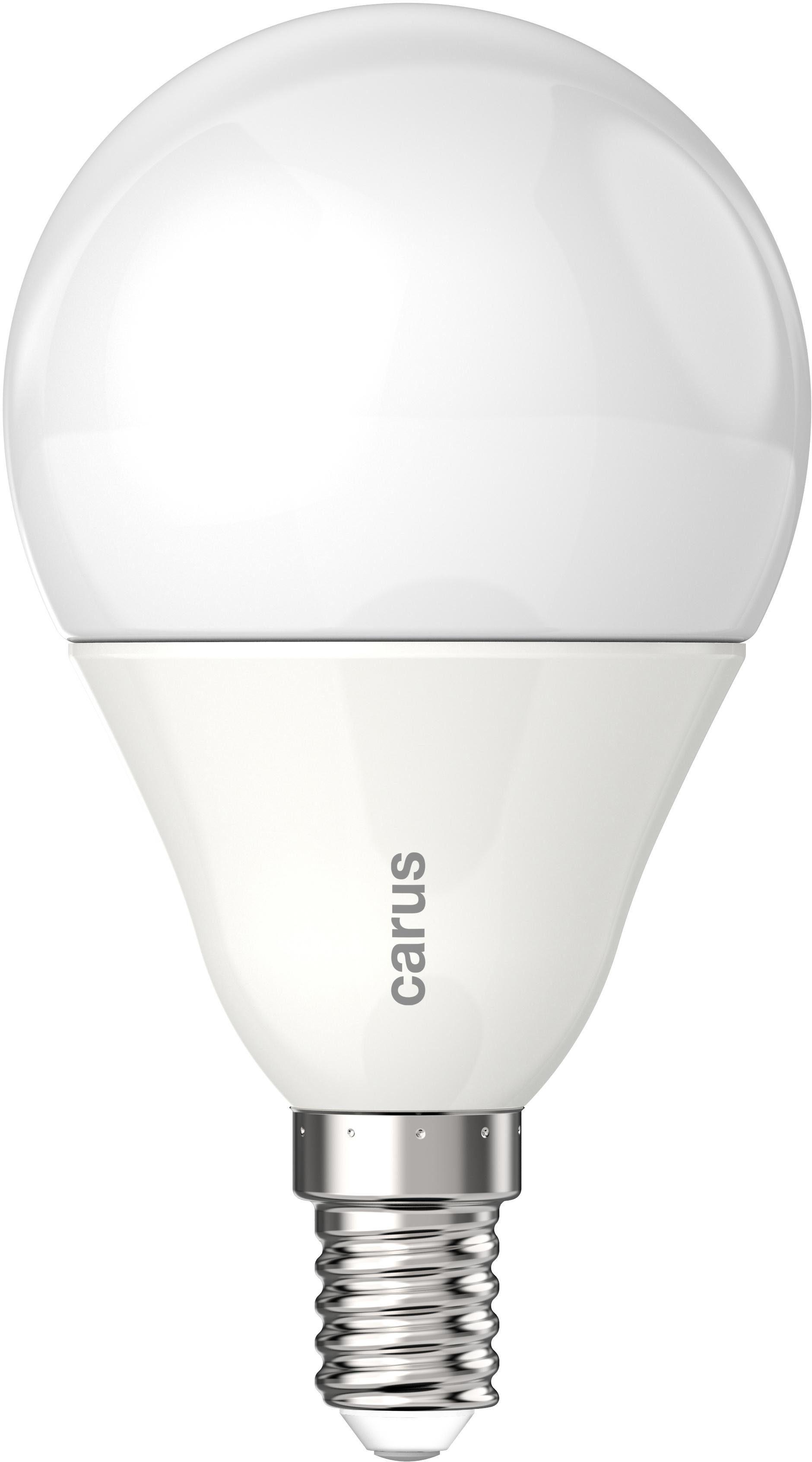 carus »Classic E14« LED-Leuchtmittel, E14, 2 Stück, Warmweiß