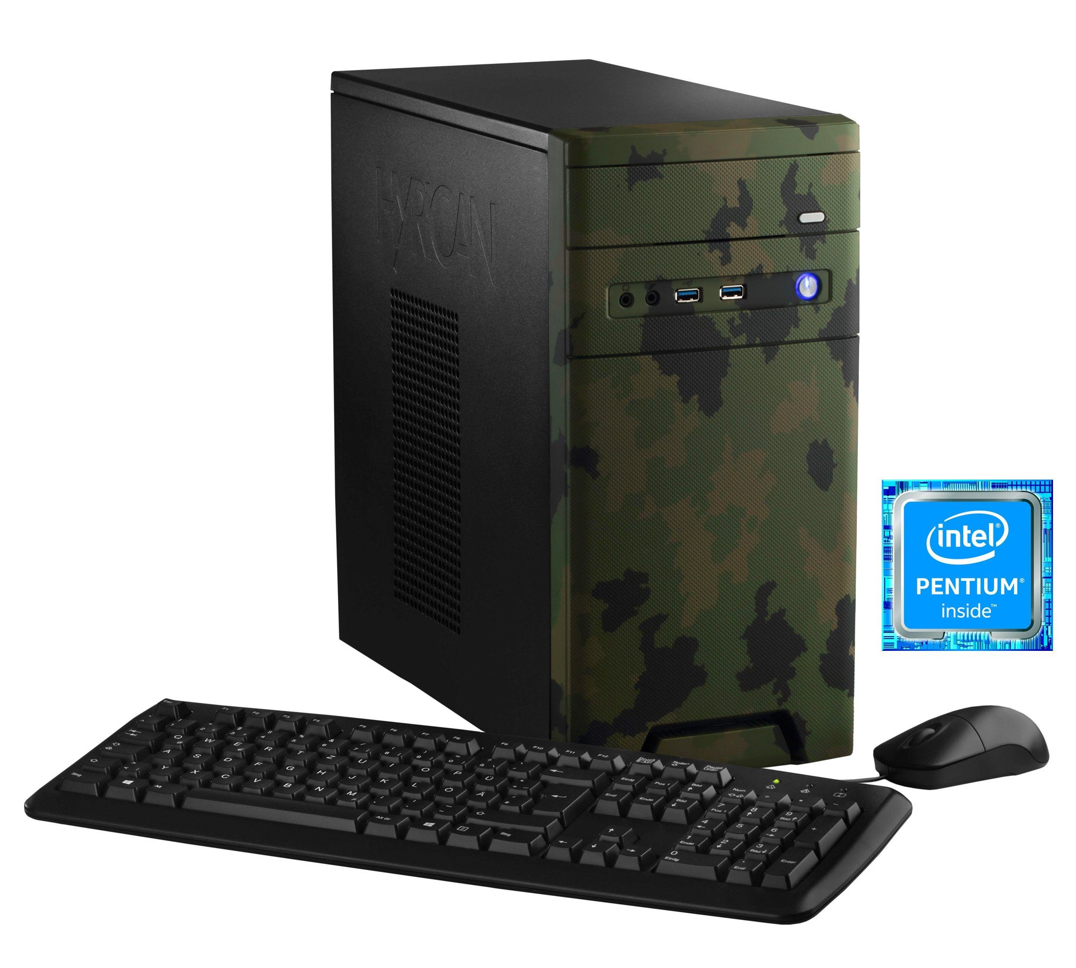 HYRICAN Gaming PC Intel® Pentium® G4560, 8GB, 1TB, GeForce® GTX 1050 »CyberGamer forest 5565«