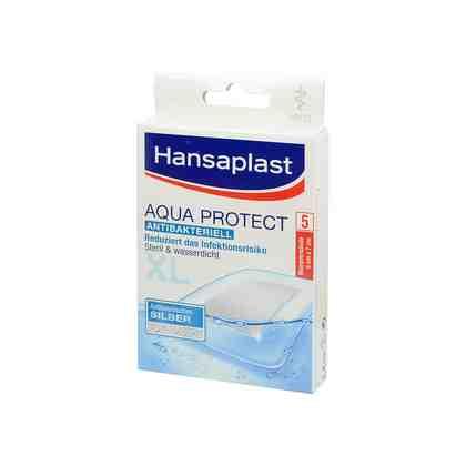 Hansaplast Hansaplast med Aqua Protect Pflaster XL 6x7 cm , 5 St