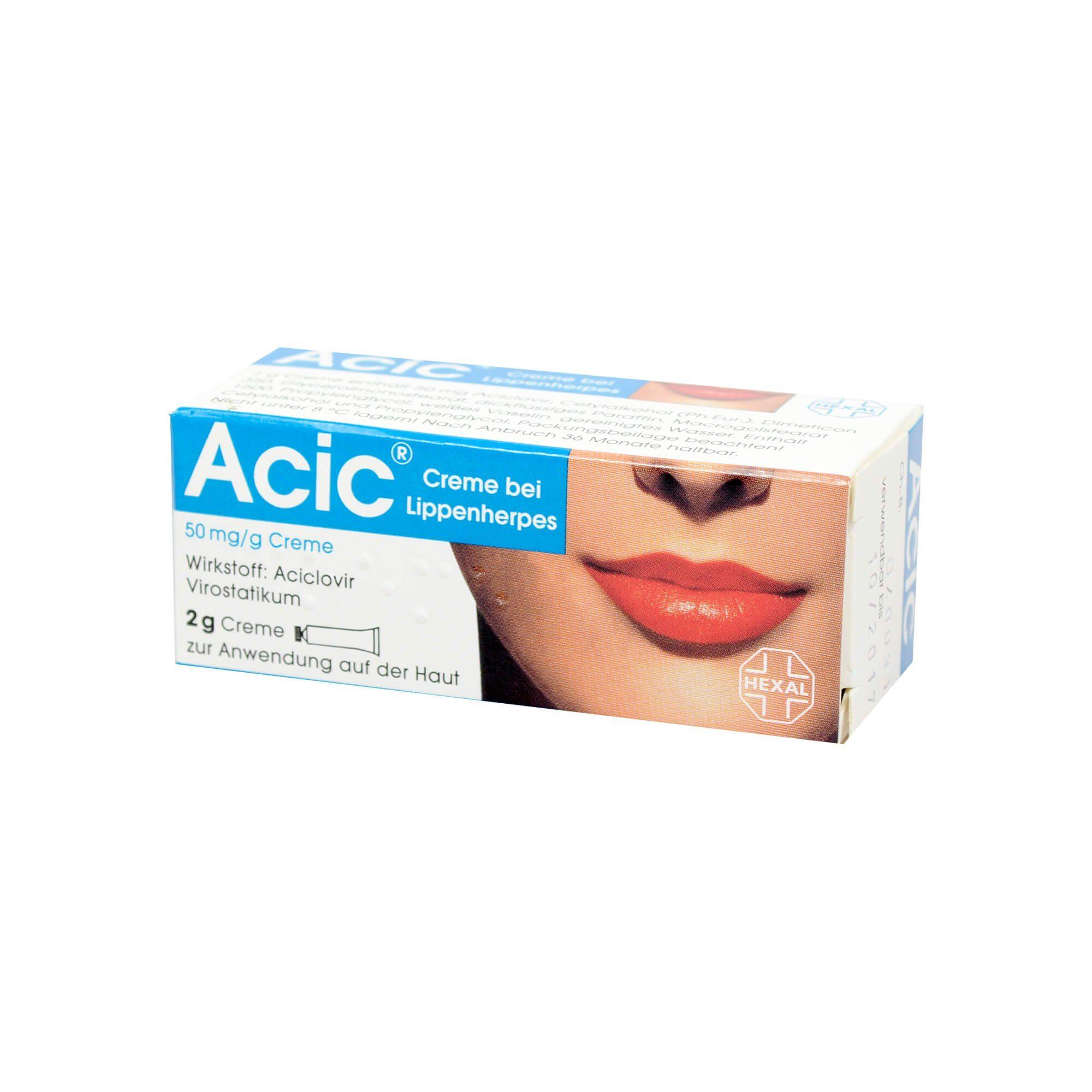 ACIC Creme bei Lippenherpes, 2 g