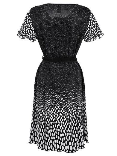 Paola Pleated Dress With Polka-pressure