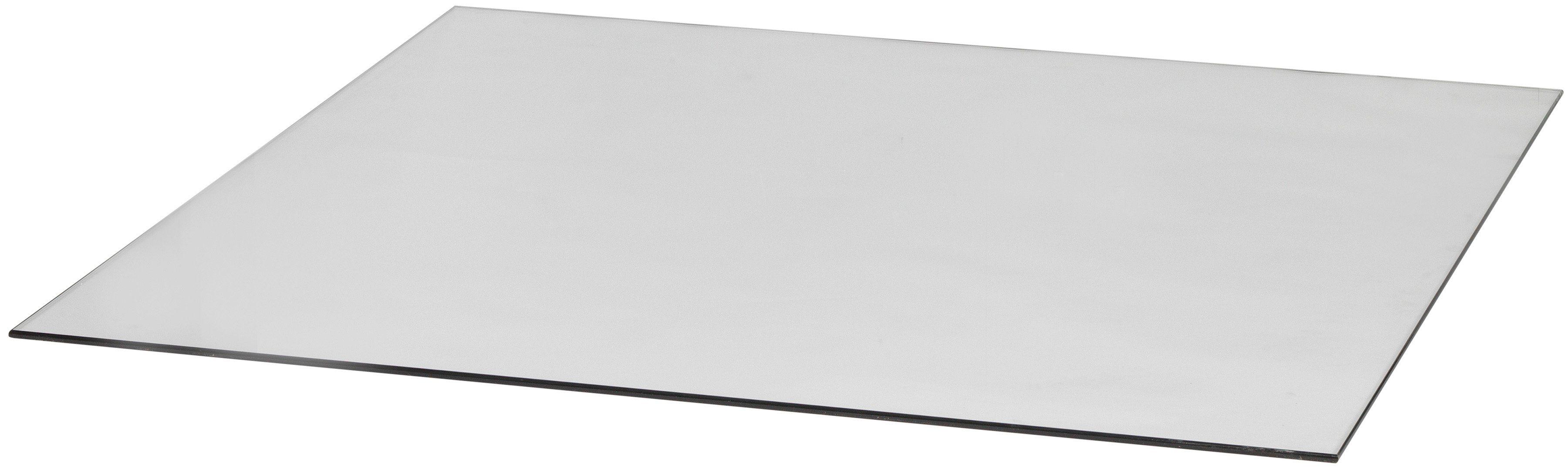 Glasbodenplatte für Kaminöfen , quadratisch, 110x110 cm, zum Funkenschutz